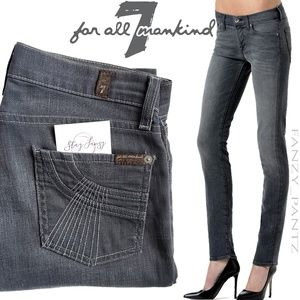 7FAM jeans Roxanne skinny grey 26 x 32  7 for all